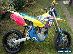 HUSABERG FS650e SuperMoto 2003reg - Engine Rebuild - N-style decal, Black Wheels for Sale