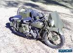 Norton Big4 Military motorcycle sidecar 41 Genuine 2wd Army WWII,633cc single for Sale