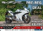 HONDA VFR800F Pre-Reg Deal! for Sale
